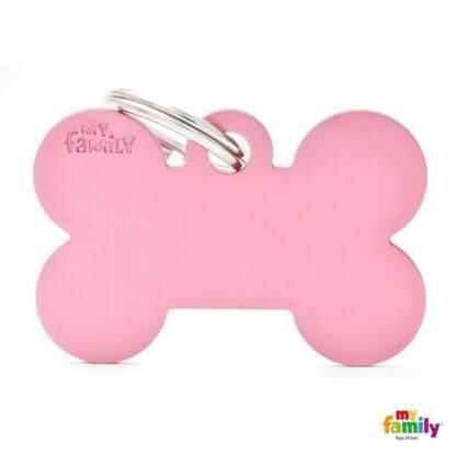 Ταυτότητα Σκύλου Big Bone Aluminum Ροζ 1