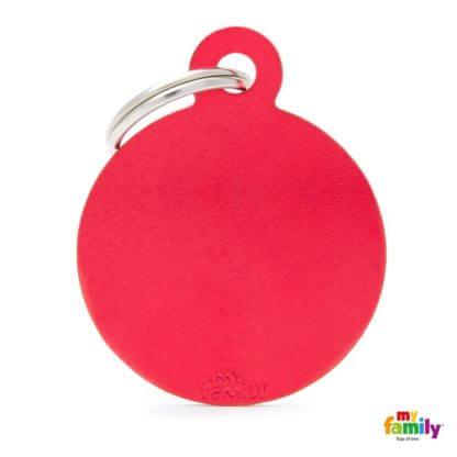 Ταυτότητα Σκύλου Big Round Aluminum Κόκκινο 1