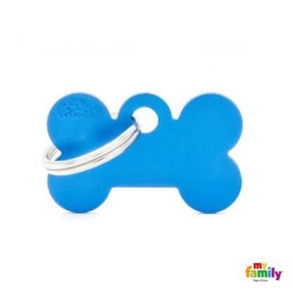 Ταυτότητα Σκύλου Small Bone Aluminum Μπλε 1