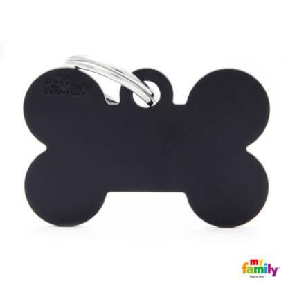 Ταυτότητα Σκύλου Big Bone Aluminum Μαύρη 1