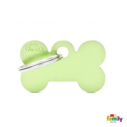 Ταυτότητα Σκύλου Small Bone Aluminum Πράσινο 1