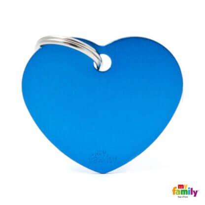 Ταυτότητα Σκύλου Big Heart Aluminum Μπλε 1