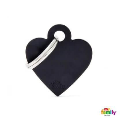 Ταυτότητα Σκύλου Small Heart Aluminum Μαύρο 1