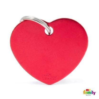 Ταυτότητα Σκύλου Big Heart Aluminum Κόκκινο 1