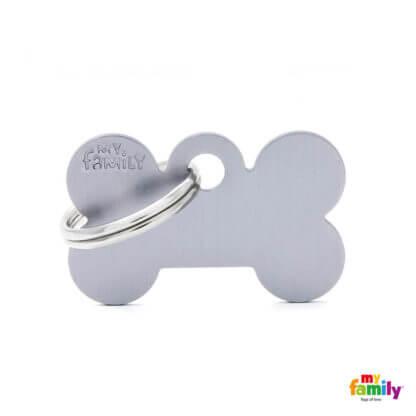 Ταυτότητα Σκύλου Small Bone Aluminum Γκρι 1