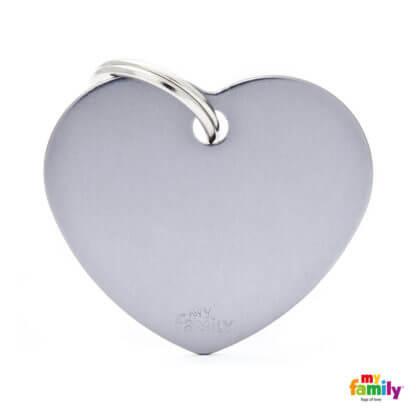 Ταυτότητα Σκύλου Big Heart Aluminum Γκρι 1