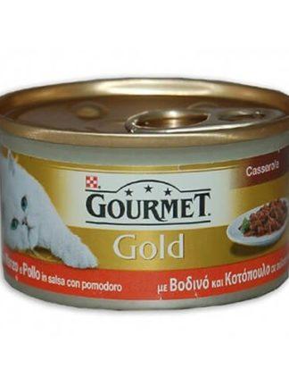 GOURMET GOLD ΒΟΔΙΝΟ ΚΑΙ ΚΟΤΟΠΟΥΛΟ 85g