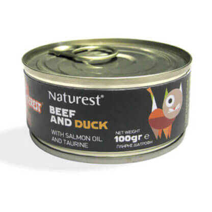 NATUREST ADULT BEEF AND DUCK WITH SALMON OIL 200g