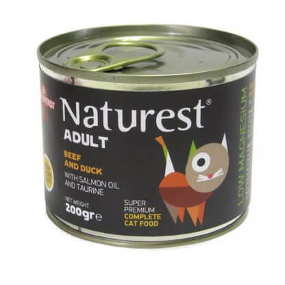 NATUREST ADULT BEEF AND DUCK WITH SALMON OIL 200gr