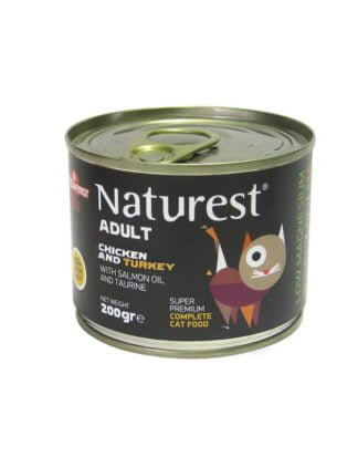 NATUREST ADULT CHICKEN AND TURKEY WITH SALMON OIL 200gr