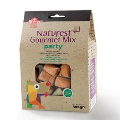 NATUREST GOURMET PARTY MIX WHEAT BISCUITS ΑΝΑΜΕΙΞΗ ΚΡΕΑΤΩΝ 400g