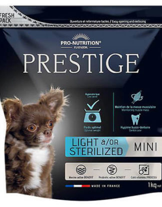 Ξηρά τροφή σκύλου flatazor prestige light sterilized mini