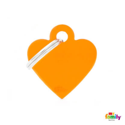 Ταυτότητα Σκύλου Small Heart Aluminum Πορτοκαλί 1