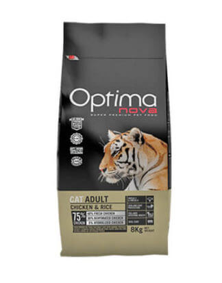 Ξηρά τροφή γάτας optimanova cat adult chicken rice