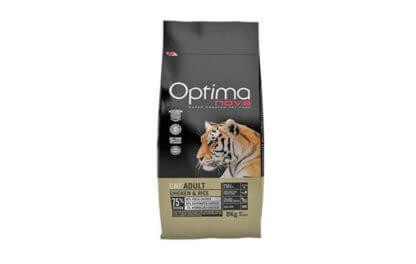 Ξηρά τροφή γάτας optimanova cat adult chicken rice