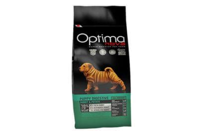 Ξηρά τροφή σκύλου optimanova puppy digestive rabbit potato