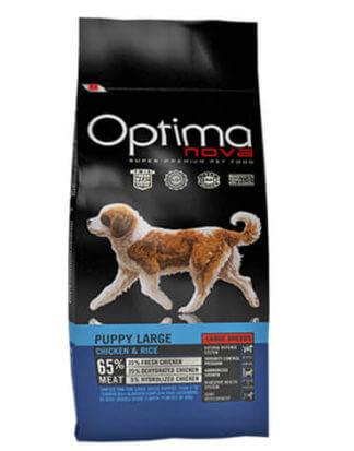 Ξηρά τροφή σκύλου optimanova puppy large chicken rice
