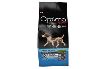 Ξηρά τροφή σκύλου optimanova puppy medium chicken rice