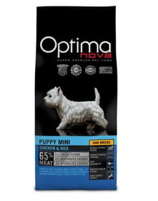 Ξηρά τροφή σκύλου optimanova puppy mini