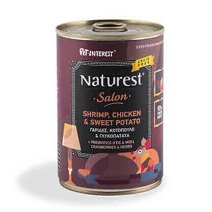 Naturest Chicken & Shrimps With Sweet Potato & Cranberries 400g