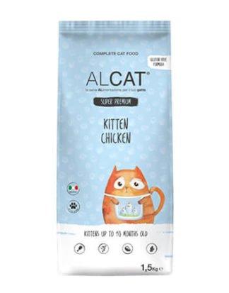 alcat kitten chicken 1.5kg ξηρά τροφή γάτας