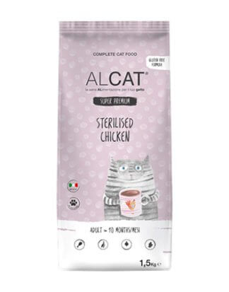alcat sterilized chicken 1.5kg ξηρά τροφή γάτας