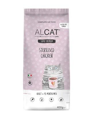 alcat sterilized chicken 400g ξηρά τροφή γάτας